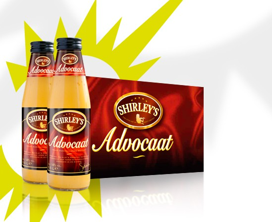 Shirley's advocaat packaging design