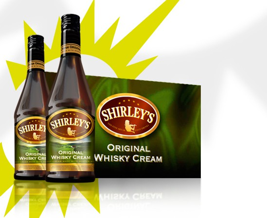 Shirley's whisky cream packaging design